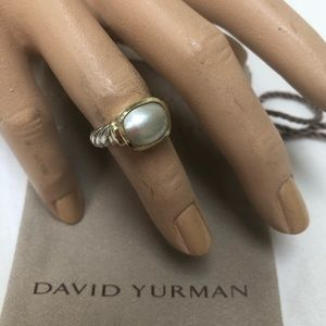 🔴Authentic DAVID YURMAN Mother Of Pearl Ring 🧡❤️